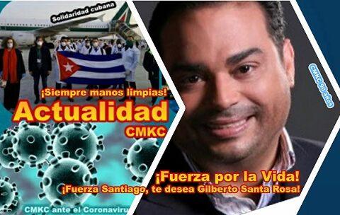¡Fuerza Santiago!, ¡Te desea Gilberto Santa Rosa!