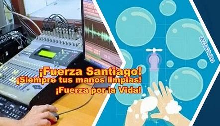 ¡Fuerza Santiago!, ¡Fuerza por la Vida! Este es un mensaje de CMKC, Radio Revolución