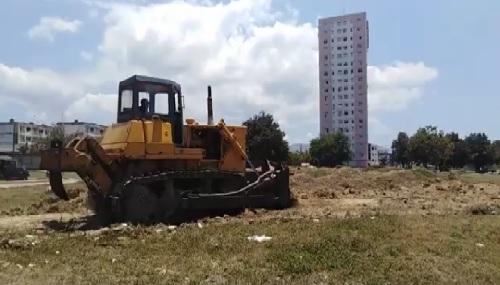 En construcción otro organopónico en el distrito José Martí de Santiago de Cuba.