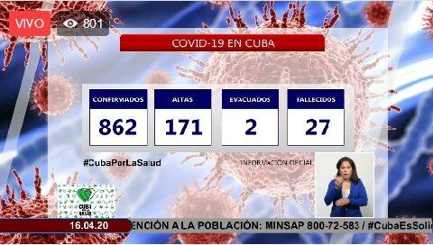 Parte Cierre del 15 de abril sobre Covid-19 en Cuba