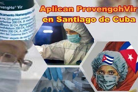 Aplican gotas homeopáticas PrevengohVir en Santiago de Cuba