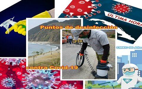 En la provincia Santiago de Cuba activados los puntos de desinfección contra el Covid-19