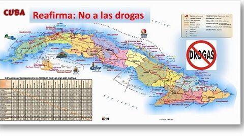 Cuba reitera NO al uso de drogas ilícitas.