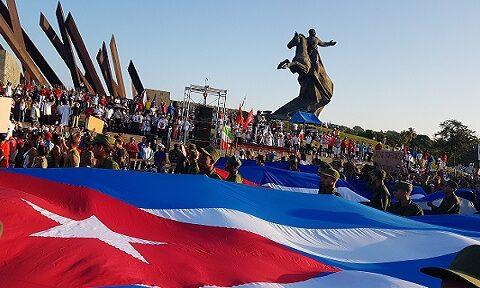Tradicional desfile por el primero de mayo en Santiago de Cuba. Foto: Santiago Romero Chang