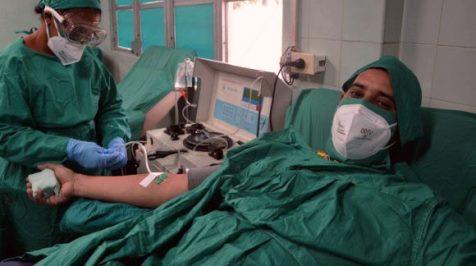 Donación de plasma hiperinmune en banco de sangre de Santiago de Cuba