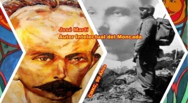 Martí y Fidel unidos en el pensamiento revolucionario cubano.