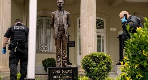 Martí enfrentó de nuevo las metrallas enemigas en Washington a 125 años de su caída en combate en Dos Ríos.