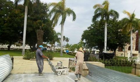 Restauración del corredor patrimnial del cementerio Santa Ifigenia de Santiago de Cuba.
