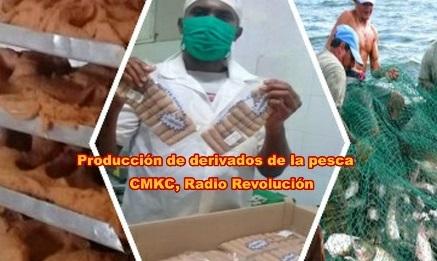 Producción de derivados de la pesca en Santiago de Cuba.