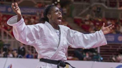 Campeona Santiaguera Kaliema Antomarchi, judoca favorita a los Juegos Olímpicos.