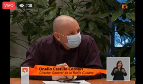 Director nacional de la Radio en Mesa Redonda Informativa sobre el quehacer de la radio y la televisión en la recuperación post-covid-19