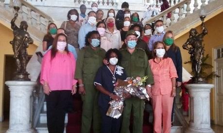 Juristas cubanos en la primera línea de lucha contra la covid-19.