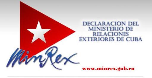 Ministerio de Relaciones Exteriores de Cuba.