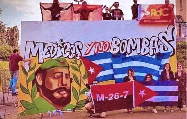 Pintan un mural en Milán en agradecimiento a la brigada de la salud Henry Reeve y a Cuba