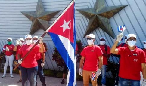 Trabajadores del Turismo en la lucha contra la covid-19.