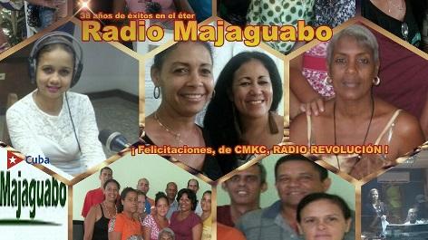 Felicitaciones a la colega emisora municipal Radio Majaguabo, desde San Luis, en Santiago de Cuba.