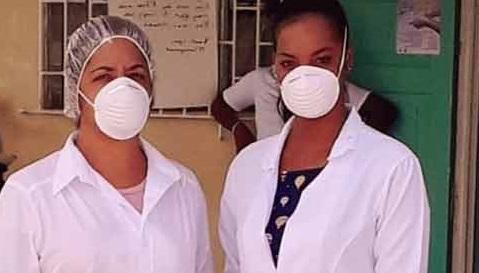 Integrantes de la brigada médica cubana en Jamaica contra la covid-19.