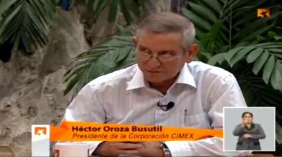 Héctor Orosa Busutil, presidente de la cadena CIMEX Cuba