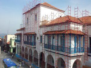 Labores constructivas en el museo Primer Frente Oriental