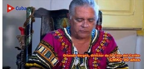 Orlando Vergés, director de la Casa del Caribe en Streaming Cuba