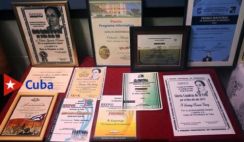 Una muestra expositiva de los éxitos de los Periodistas reconocidos por la UPEC en atención a sus coberturas en medio de la covid-19. Texto y foto: Santiago Romero