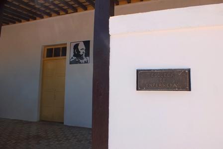 Aquí fue el juicio del Moncada, en el hoy Parque Museo Abel Santamaría Cuadrado, en restauración en Santiago de Cuba. Foto: Santiago Romero Chang.