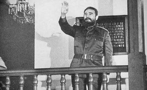 Fidel desde el ayuntamiento de Santiago de Cuba