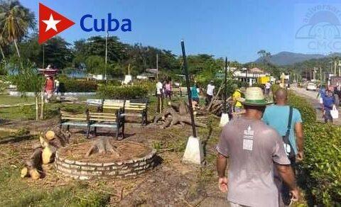 Recuperación en Guamá tras el paso de la tormenta Laura por ése municipio de la provincia Santiago de Cuba