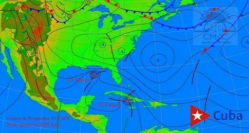 En su tránsito por las costas sureñas de Cuba, la tormenta tropical Laura continuará su recorrido por el archipiélago Jardines de la Reina y puede ganar intensidad