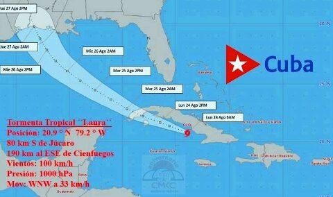 Tormenta tropical Laura, en Santiago de Cuba. CMKC, Radio Revolución.