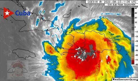 Trayectoria más definida de la tormenta tropical Laura, rumbo hacia iente cubano. CMKC, Radio Revolución.
