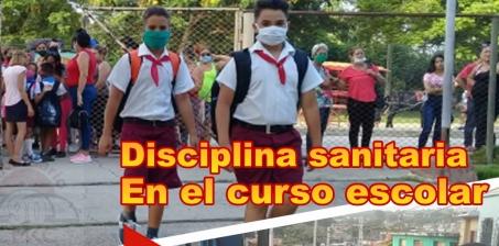 Disciplina higiénico-sanitaria en prioridad en el actual fin de curso escolar.
