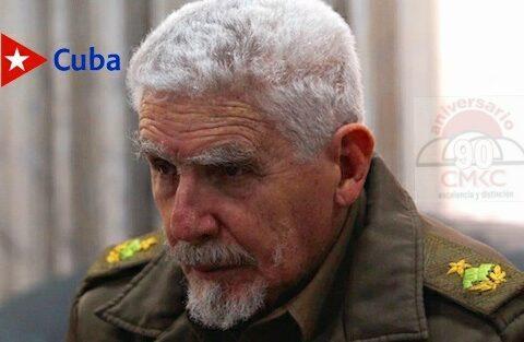 Comandante de la Revolución Ramiro Valdés Menéndez. Santiago de Cuba.
