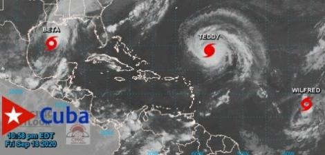 Tormenta tropical Beta se fortalece en el Golfo de México