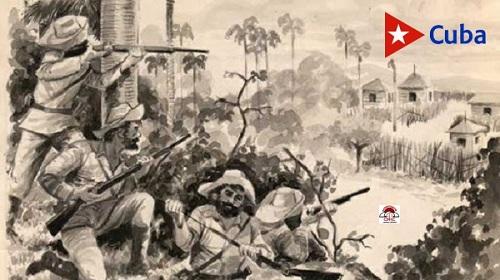 Cruce de la Trocha Júcaro-Morón por el Generalísimo Máximo Gómez Báez
