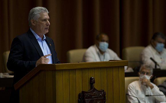 Clausuró Presidente Cubano, Díaz-Canel, V sesión de la Asamblea Nacional del Poder Popular en su IX Legislatura