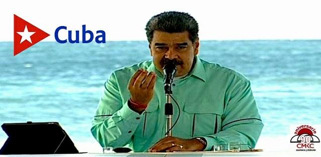 Presidente de Venezuela, Nicolás Maduro, se dirige al pueblo.