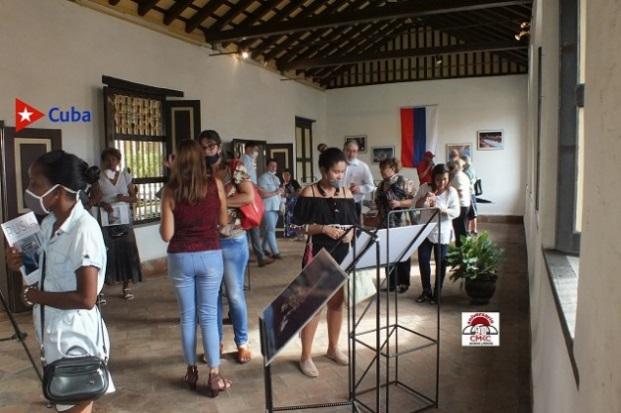 """Inaugurada en Santiago de Cuba Exposición """"La Rusia contemporánea"""".  Foto: Ling Kevin Romero Coronel"""
