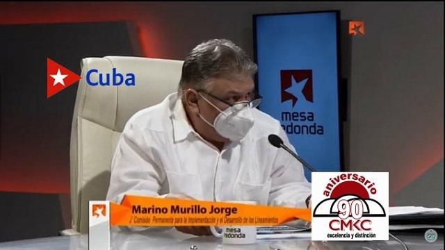 El jefe de la Comisión de Implementación de los Lineamientos, Marino Murillo Jorge, sobre la Tarea Ordenamiento económico.