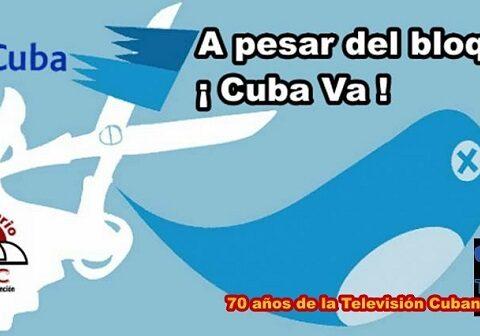 CMKC felicita a la Televisión Cubana por sus 70 años. Imagen: Santiago Romero Chang.
