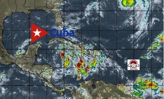 El Centro Pronósticos Nacionales del Instituto de Meteorología, está emitiendo aviso de ciclón tropical sobre la Tormenta Tropical Zeta