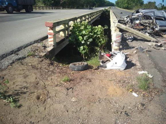 Cuatro fallecidos en accidente de tránsito en la Autopista Nacional
