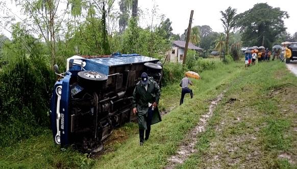 Accidente masivo en Contramaestre deja saldo de 15 lesionados