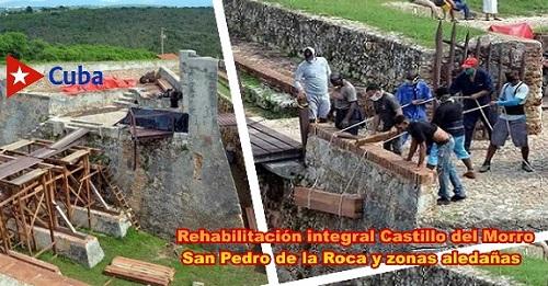 En rehabilitación integral del Castillo del Morro San Pedro de la Roca y zonas aledañas