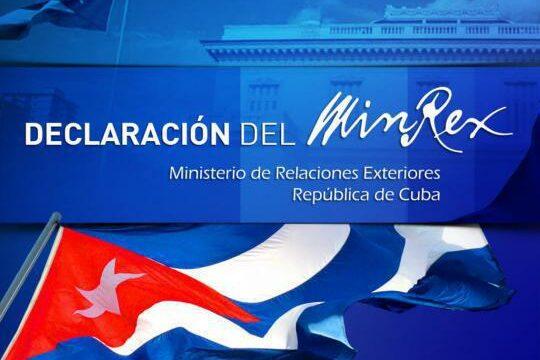 Ministerio d Relaciones Exteriores de Cuba. MINRX,