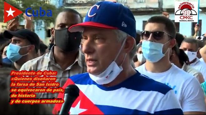 Presidente de Cuba: «Quienes diseñaron la farsa de San Isidro se equivocaron de país, de historia y de cuerpos armados»