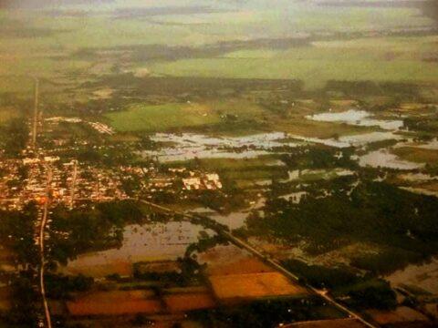 Presidente de Cuba MIguel Díaz Canel Bermúdez recorre la provincia Villa Clara ante las afectaciones por lluvias ocasionadas por la tormenta tropical Eta.