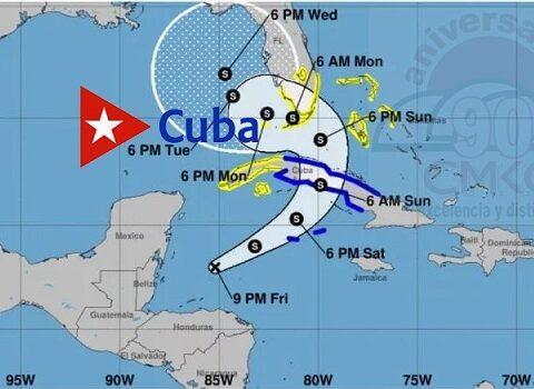Modelos de pronóstico del tiempo confirman que tormenta Eta resulta un grave peligro para Cuba por lluvias y vientos que lleva.