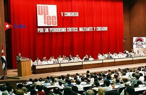 Fidel en el Sexto Congreso de la UPEC