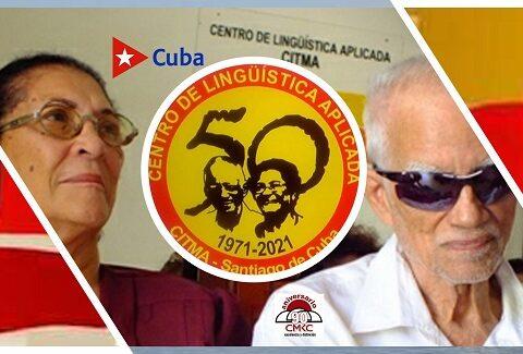 Medio Siglo del Centro de Linguística Aplicada de Santiago de Cuba. Eloína Miyares y Vitelio Ruíz, fundadores.